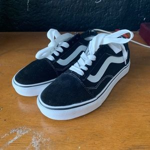 Vans Old Skool Low Top Black Womens Size 6.5